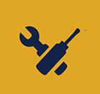 Automotive technology gear icon