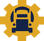 Diesel truck technology gear icon