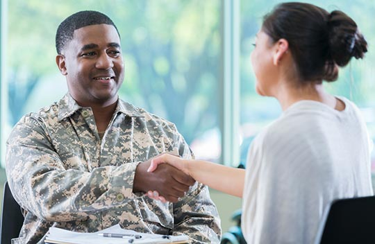 Veteran Enrolls In Classes